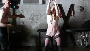 Mature slut in stockings enjoys BDSM in HD video