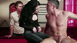 A threesome on the billiard table is something that Veruca James remebers