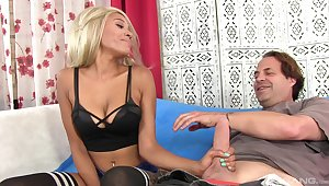Seductive blonde plays with a difficulty big dick close by marvelous modes